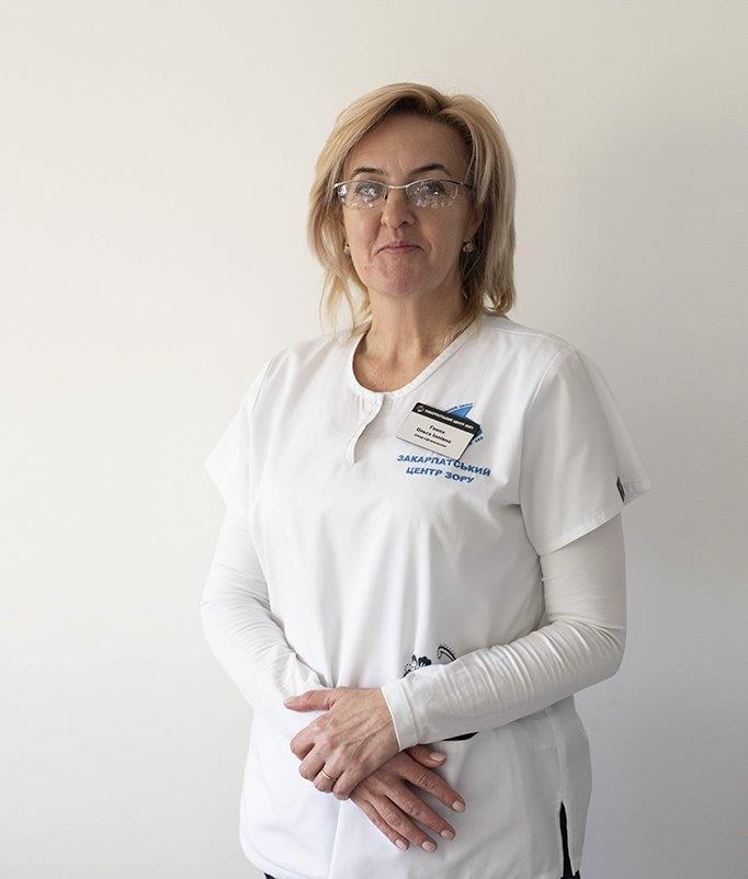 Гнепа Ольга Іллівна - Закарпатський центр зору та Закарпатський центр мікрохірургії ока
